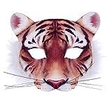 Rappa Tolle, lebensechte Tiermaske Maske Tiger aus Stoff