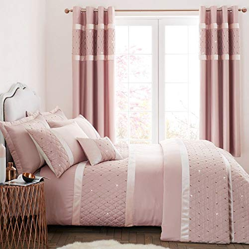 Catherine Lansfield Sequin Cluster Double Duvet Set Blush