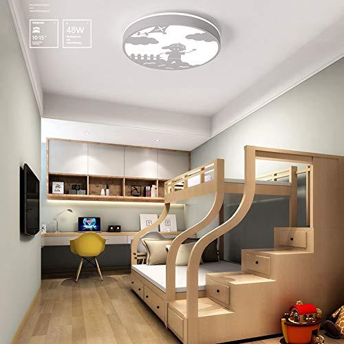 DOCJX Ventilateur moderne LED Plafonnier Ventilateur de plafond r/églable avec /éclairage et t/él/écommande Variation ultra silencieuse d/énergie Salon Chambre Chambre denfant ventilateur Lumi/ère