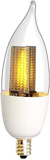 Euri Lighting Flickering Flame Bulb ECA9.5-1120fc LED CA9.5, Decorative Line, Warm White 2200K, Non-Dim, 1W (10W Equivalent), 50 lm, 120 Degree Beam Angle, UL-Listed