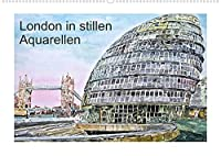 London in stillen Aquarellen (Wandkalender 2022 DIN A2 quer): Londons zauberhafte Sehenswuerdigkeiten (Monatskalender, 14 Seiten )