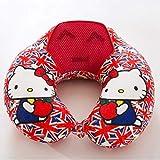 XYDRXY Almohada para El Cuello En Forma De U Almohada Hello Kitty De Espuma con Memoria Portátil...