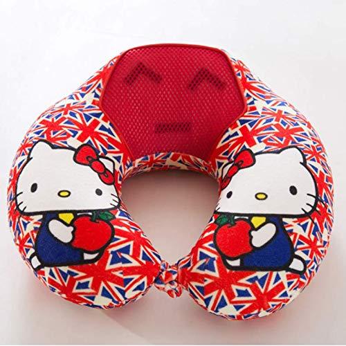 XYDRXY Almohada para El Cuello En Forma De U Almohada Hello Kitty De Espuma con Memoria Portátil Almohada En Forma De U, Almohadas para El Cuello, Cojín para La Cabeza del Automóvil