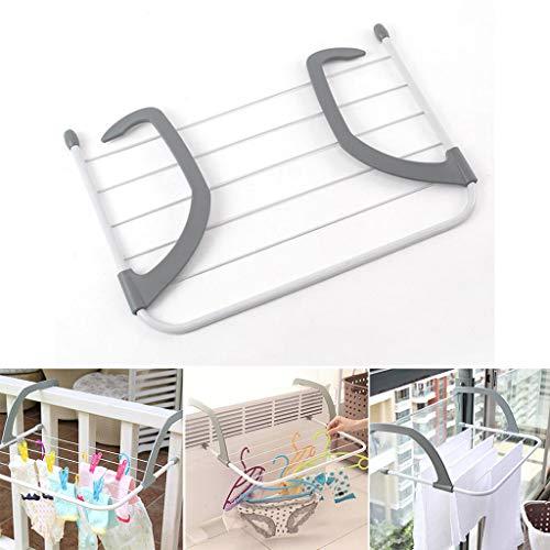 LXLTL Kühler Wäscheständer Klappbar,Turmtrockner zum Diebstahlsicherung,Leitplanke,Deckenhohe Fenster,Kühler