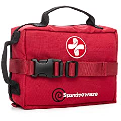 LABELED COMPARTMENTS! For the first time ever, Surviveware introduces a survival kit with labeled compartments. The system is color-coded to help you stay organized. This means in an emergency the bag does the thinking for you. Stay calm, and get to ...