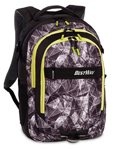 """Bestway Rucksack, \""""Evolution\"""", Mit Laptop-Fach, Schwarz/Gelb ,22l, 34x46x22cm, 40177-0109"""