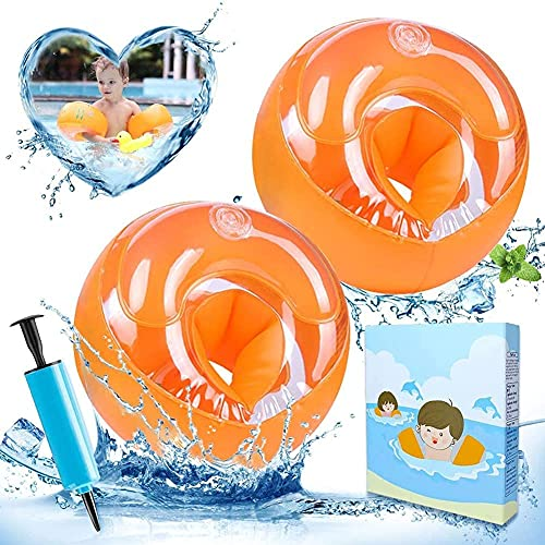Schwimmflügel, Schwimmhilfe für Kleinkinder und Kinder 2-6 Jahre, 14-25 kg, Schwimmgürtel für Jungen und Mädchen, Ideal Schwimmhilfen, Schwimmweste, Schwimmtrainer mit Sicherheitsschnalle & Armärmeln