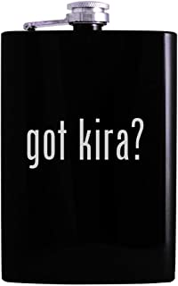 got kira? - 8oz Hip Alcohol Drinking Flask, Black