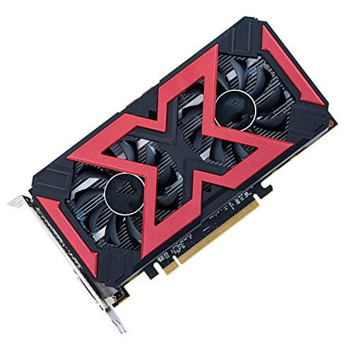 LIUXING Grafikkarte 1226MHz 7000MHz 4GB 256bit GDDR5 DX12 Gaming-Grafikkarte (Farbe : Schwarz, Größe : Einheitsgröße)