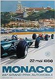 Monaco F1 Poster 1966 F1 Grand Prix Wall Art Grand Prix