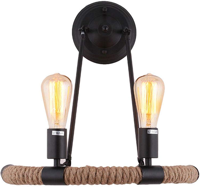 Pouluuo Wandlampe LED Hanfseil Lampe Dekoration Wohnzimmer Restaurant Club Restaurant 694431648575