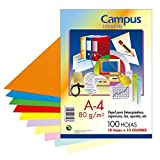Campus University XL Paper - Papel color, paquete 100 hojas, A4, surtidos