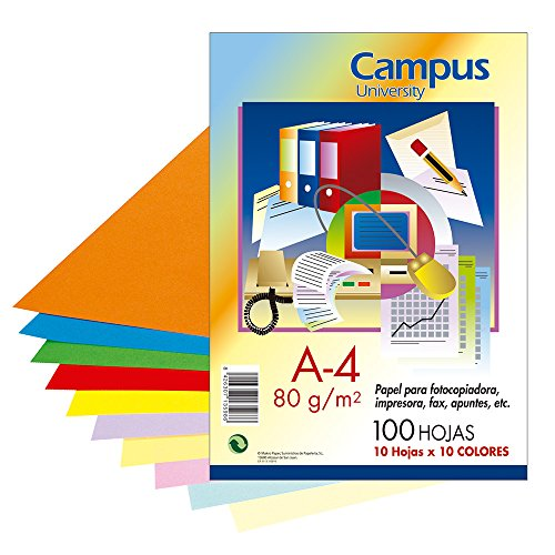 Campus University XL Paper - Papel color, paquete 100 hojas,