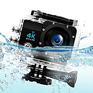 Sports Action Camera 4k With WIFI 1080P 60fps HDMI 20MP+ 170 Degree Wide Viewing Angle Waterproof DV Camcorder for Extreme Outdoor Sports Camcorder
