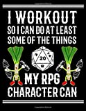 RPG FITNESS WORKOUT D20 Dice GAME Bordgame A4 Ruled Line Paper: Notebook with 120 Pages ca. A4 (8,5x11 in) RPG Dice Roleplaying game Dragon Pen and ... Role Playing Games Tabletop play gifts