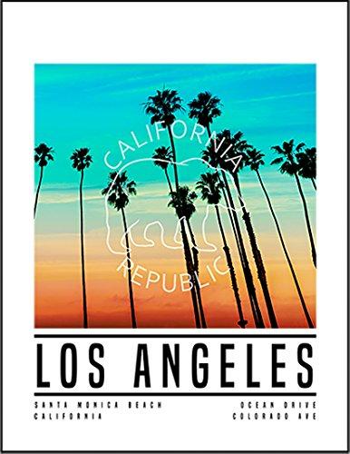 【FOX REPUBLIC】【サンセット ロサンゼルス カリフォルニア ビーチ】 白光沢紙(フレーム無し)A2サイズ