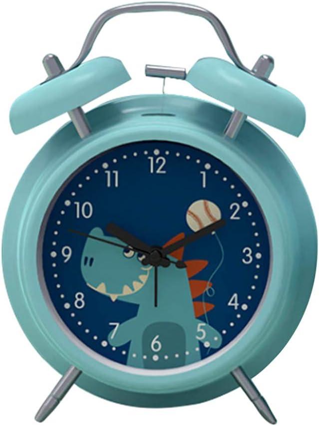 VOSAREA Cartoon Alarm Clock Digital Dual Bell Loud Clock Luminou