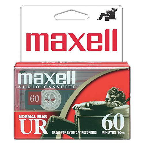 Maxell 109024 60 Minute Storage Capacity Normal Bias Type Flat Packs 2 Pack Cassettes