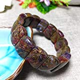 EASTCODE Pietersite Stone Natural Stone Bracelets Pattern Energy Stone Hand Row Lucky for Women Men Gift Wrist Crystal Jewelry