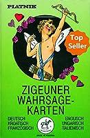 Zigeuner Wahrsagekarten. Deutsch/Englisch/Kroatisch/Ungarisch/Franzoesisch/Italienisch: 36 Karten mit Anleitung