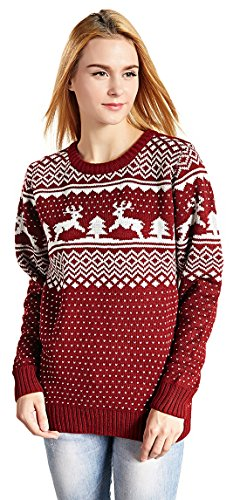 CHRISTMAS Sweater / Cardigan, with Various Lovely Patterns of Reindeer / Snowman...