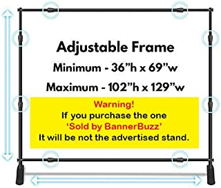10x8 Backdrop Stand (Jumbo Size 8ft x 10ft) / Adjustable Graphic Telescopic Step & Repeat Logo Wall Adjustable Backdrop Banner Stand w/ Carrying Bag