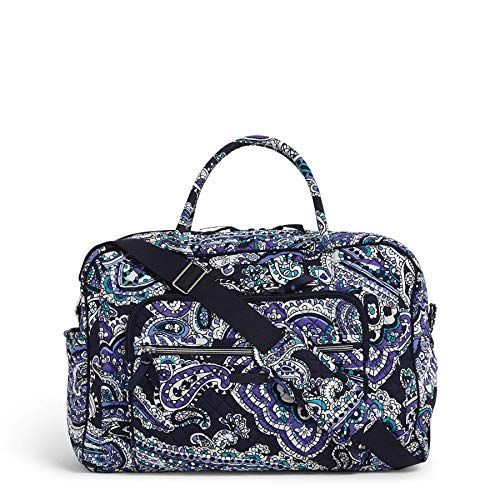 Vera Bradley Women's Vera Bradley Women s Signature Cotton Compact Weekender Travel Bag Deep Night Paisley One Size, Deep Night Paisley, One Size US