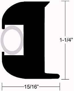 Taco Marine Flexible Black Vinyl Rub Rails - Black Vinyl RUB Rail 50' - Length 50' Use Vinyl Insert 750542 (V12-0003) or 1/2 Rope (V11-3447BKA)