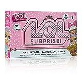 L.O.L. Surprise! Schmuckschatulle für Mädchen Glitterati Series mit 24 überraschungen Konfetti Pop Haarschmuck für Mädchen, Aufkleber, Schmuck Tolle Geschenke für Kinder -