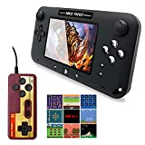 EASEGMER Handheld Game Console, Portable Game Player Built-in 500 Classic Games 4 Inch Retro Gaming System, Support TV/AV 12 Bit Rechargeable Video Game Console, Best Gift for Kids and Adults (Black)