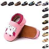 Zapatos Primeros Pasos Bebe Niña Niño Suave Cuero de Imita
