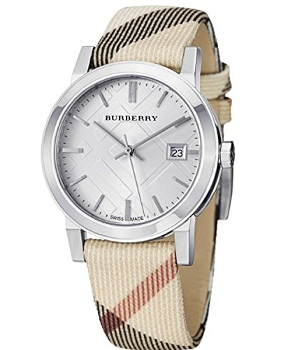 Burberry Watch, Unisex Swiss Nova Check Fabric Strap 38mm BU9022