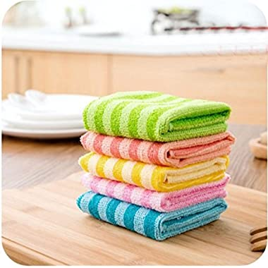 Dish Cloth Kitchen Cloths Lint-Free Towel Nonstick Oil 5 Pack