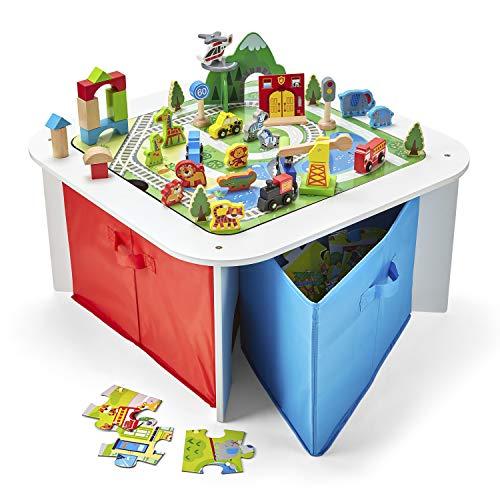Imaginarium 100Pc Wooden Ready to Play Table Multicolor AD20594