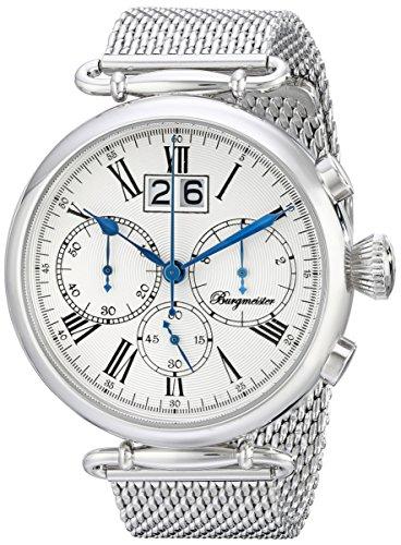 Burgmeister Armbanduhr für Herren mit Analog-Anzeige, Chronograph mit Edelstahl Armband - Wasserdichte Herrenarmbanduhr mit zeitlosem, schickem Design - klassische Uhr für Männer - BMP01-111 Toulouse