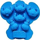 Stitch Scrump Silicone Baking Pan Ice Cube Tray Muffin Chocolate Mold Bakeware Non-Stick