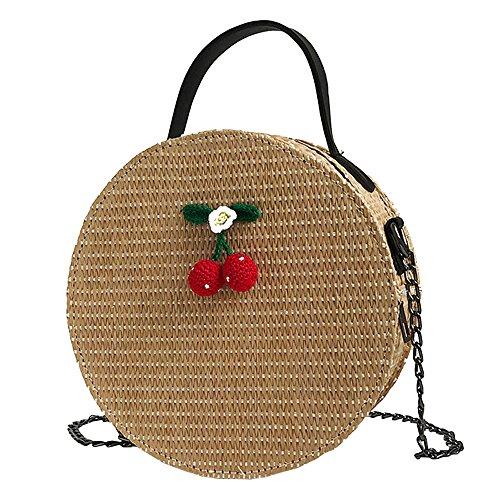 Longra bolso Crossbody de Las Mujeres de la Vendimia Bolsos Redondos del totalizador de la Armadura Simple del Hombro Mini Bolso