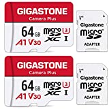 Gigastone Kamera Plus 64GB MicroSDXC Speicherkarte 2er-Pack + SD Adapter, für Action-Kamera und...