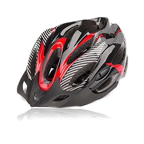 DAZISEN Männer und Frauen Unisex Fahrradhelm Schutzkleidung - Mode Sport Outdoor Ski Skateboard Roller Helm, Rot Schwarz