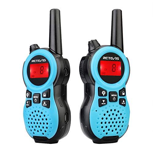 Retevis RB19 Ultra-Thin Walkie Talkies Rechargeable,Small 2 Way Radio Long Range,Channel Display,Emergency Alarm,for Adults