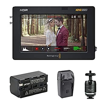 Blackmagic Design Video Assist 5  12G-SDI/HDMI HDR Recording Monitor with NP-F770 Li-ion Battery Pack AC/DC Charger & Ball Head Bundle