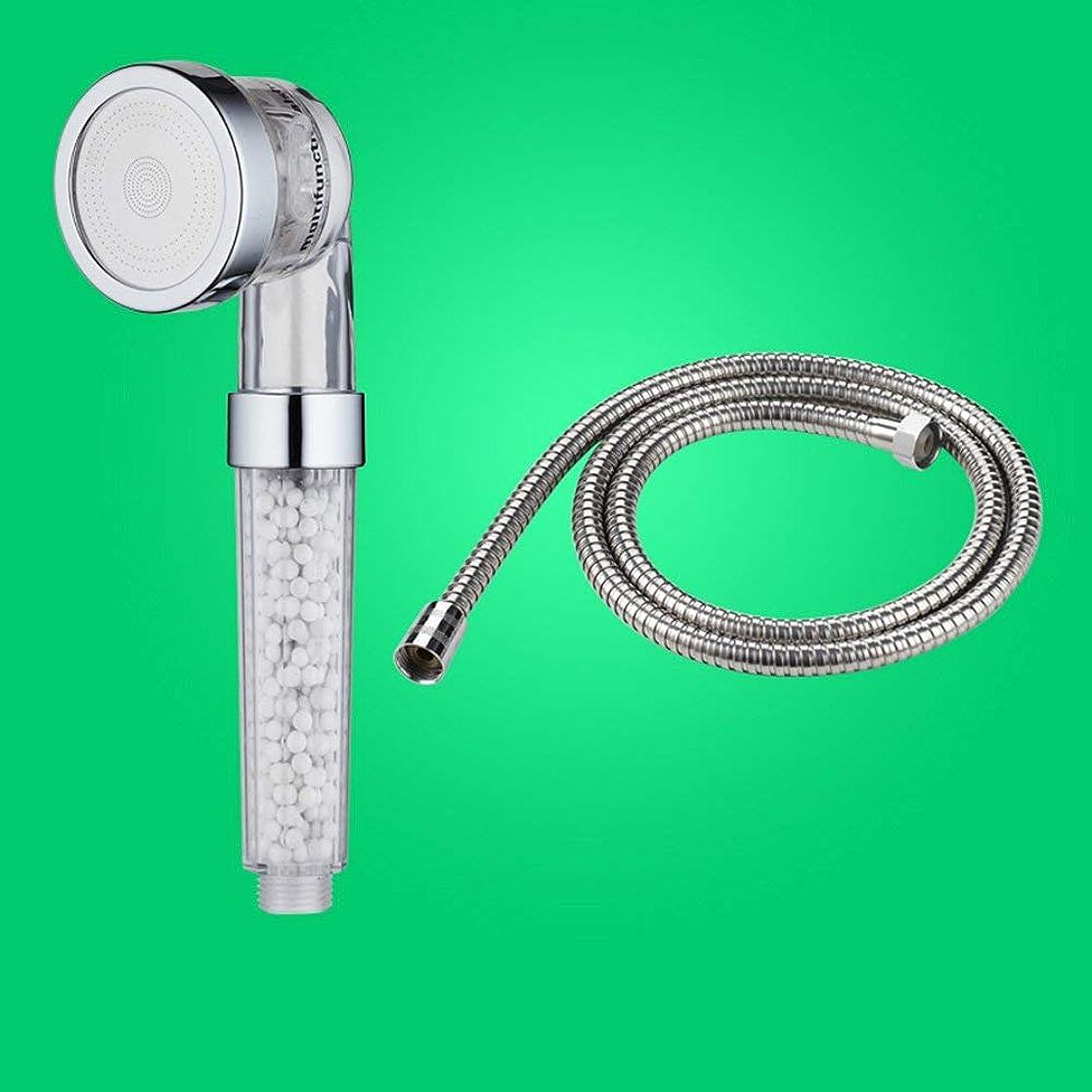 見分ける軍艦署名実用的なハンドシャワー マイナスイオンシャワーヘッド浴室加圧レインシャワーノズルハンドヘルドバスシャワーヘッドメッキ面 (Color : 2)