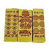 Ancestro Money 3 paquetes de papel de incienso chino, Billetes de banco, Billetes de Billetes de Dollar, Dinero de origami. Adecuado para adoración de ancestro, Fest Ancestor money