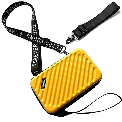 Bolso Movil Mujer,Bandolera Pequeña,Teléfono Celular Crossbody Phone Wallet Bolsa con Cremallera Bandolera Monedero con Ranuras para Tarjeta(Amarillo)