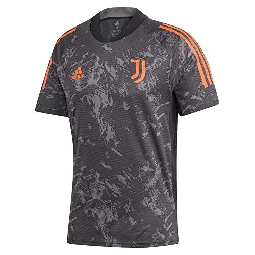 adidas JUVE EU TR JSY Camiseta, Hombre, Negro/apnase, S