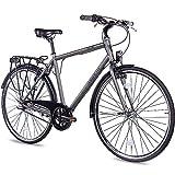 CHRISSON 28 Zoll Citybike Herren - City One anthrazit matt