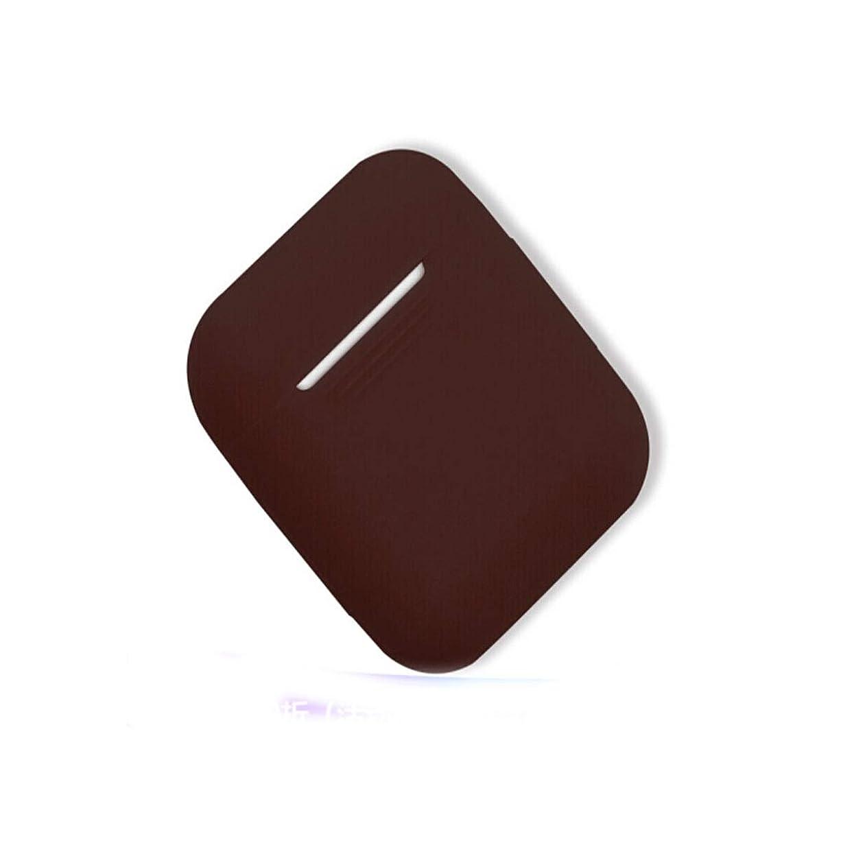 狂乱印刷する別れるShengshihuizhong AirPodケース、ワイヤレスBluetoothヘッドセットシリコンケース、さまざまな色から選択可能 最新のスタイル (Color : Brown)