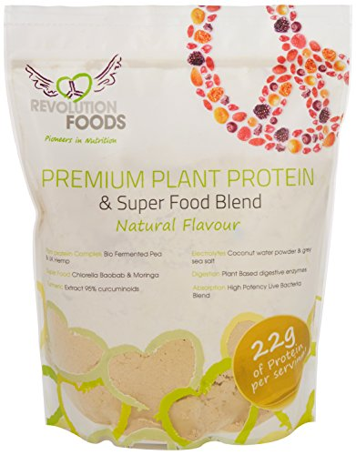 Premium Raw Plant Based Natural Protein Powder - selection of plant derived Electrolytes, Superfoods, Probiotics, Digestive Enzymes, Turmeric.