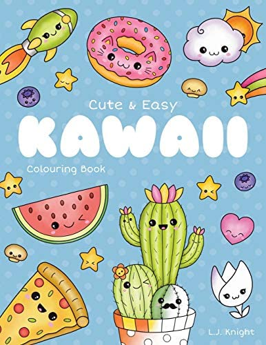 Cute and Easy Kawaii Colouring Book 30 Fun and Relaxing Kawaii Colouring Pages For All Ages product image