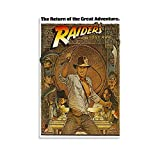 KUCHAO Póster vintage de la película Indiana Jones-Raiders of the Lost Ark Posters Poster...
